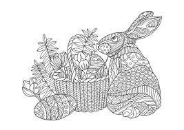 大人の塗り絵ウサギ無料印刷 もくもくん知育プリントキッズ