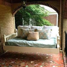 hanging daybed swing patio with netting bed swings plans how deluxe canopy instructions porch outdoor australia