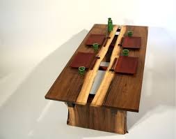 river s rift walnut sushi coffee table