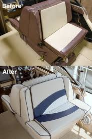 before and after back to back lounge seat upholstery