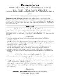 Banking Resume Examples Resume For Bank Teller Resume Teller Resume