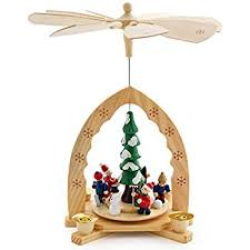 Amazon.com: Christmas Decoration Pyramid 18 Inches Nativity Play 3 ...