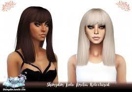 ANTO AMELIA hair retexture at Shimydim Sims - The Sims 4 Catalog