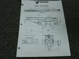 Details About Tadano Tr 450xl Hydraulic Rough Terrain Crane Load Chart Capacities Manual