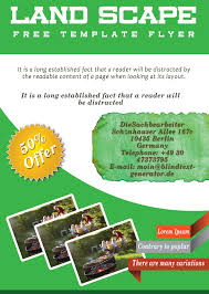 landscaping flyer templates to power lawn care businesses landscaping flyer template 1