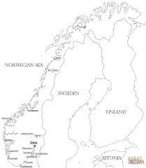 Kaart Noorwegen Kleurplaat Gratis Kleurplaten Printen