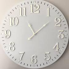 large 58cm light grey wall clock