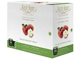 barrie house hot apple cider single cup capsules 24 capsules