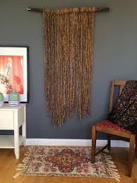 Farrin O Connor Design Studio Organic Peace Silk Wall Hanging On Driftwood Dowel Modern