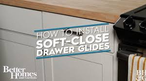 how to install soft close drawer glides