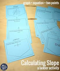 calculating slope ladder activity finding slope from a graph and equation and form