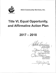 Title Vi, Equal Opportunity, And Affirmative Action Plan 2017 2018
