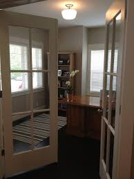 french doors for home office. Home Office French Doors. Polished Chrome Schoolhouse Light By World Imports. Benjamin Moore Revere Pewter On The Walls, Sherwin Williams Alabaster Doors For
