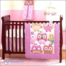 awesome purple crib bedding set new spaces baby girl owl sets mini