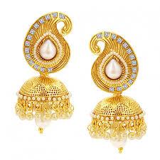 sukkhi sleek jhumki gold plated earring for women