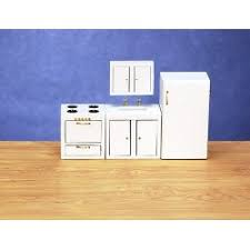 dollhouse kitchen furniture. 4pc modern kitchenwh dollhouse kitchen furniture