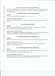 How To Make Work Cited Page 12 Format For A Work Cited Page Business Letter