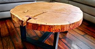 diy log slice coffee table