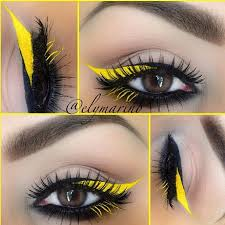 black eyeliner immortal gel liner lee stell yellow mixed eye drops with eyeshadow from makeup forever lashes dollface from house of lashes brows brow