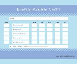 Officeworks Reward Chart Kids Evening Routine Checklist With Free Printable