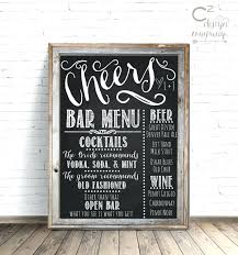 Retro Chalkboards For Kitchen Hanging Chalkboard For Kitchen Cheers Chalkboard Wedding Bar Menu
