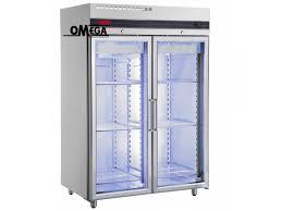 double glass doors upright freezer