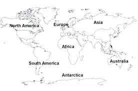 Map Of The World Coloring Page World Map Coloring Page With
