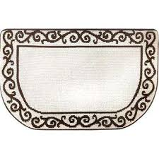 kitchen plush step slice scroll beige brown 19 7 in x 31 5 in memory