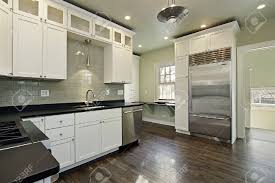 Wooden Floor Kitchen Kitchen Wonderful White Kitchen Dark Wood Floors With Beige