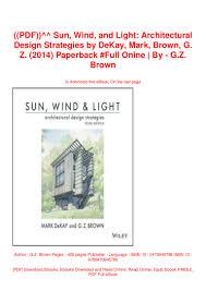 Sun Wind And Light Architectural Design Strategies Pdf Sun Wind And Light Architectural Design