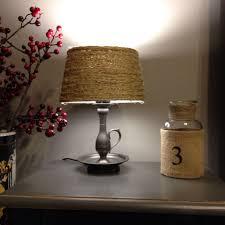 Diy Lamp Lampenkap Rustic Rope Touw Lampshade Doityourself
