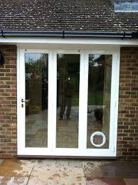 patio door with pet door built in medium size of glass door with dog door built