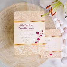 Cheap Wedding Invitations Free Response Card Printed Envelops V P