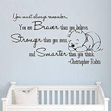 Christopher Robin Quotes Delectable Amazon Christopher Robin Wall Decals You Must Always Remember
