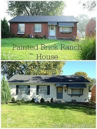 Painted brick exterior Grey Painted Brick Ranch House cleverlyinspired 2 Painted Brick Homes Painted Bricks Home Stories To 81 Best Painted Brick Ranch Images In 2019 Facades House House