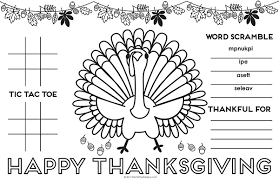 Print, color and enjoy these thanksgiving coloring pages! Thanksgiving Placemat For Kids Free Printable Diy Activity Placemat