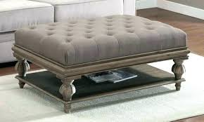 leather ottoman coffee table square adorable and awesome round black oxford tufted stool storage