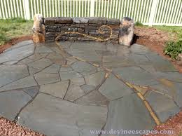 laying stone patio over concrete slab ideas