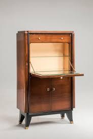 20th Century Art Deco Bar Rosewood French Drop Down Door Cabinet
