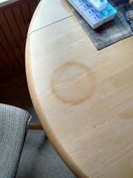 heat mark on wood table