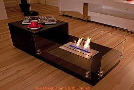 bio fire coffee table simple themes wooden brown theflame uk