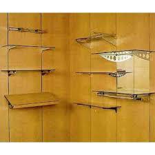 black wall panel with custom shelves
