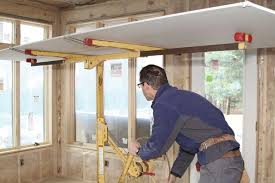 but the reverse is true when you re hanging drywall you should be making it as easy as possible for the taper by minimizing the number of seams and