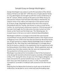 george washington essays articles and essays george washington papers digital