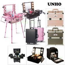 la foto se está cargando studio lighted wheeled rolling makeup case and portable