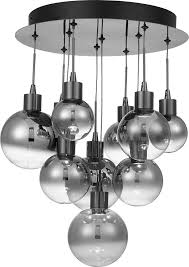 quoizel pcsh1614bch shadow modern black chrome led multi hanging pendant lighting quo pcsh1614bch