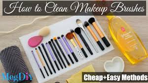 easy methods to clean makeup brushes megdiy