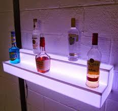 light up floating wall shelf