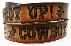 name belt cowboy up