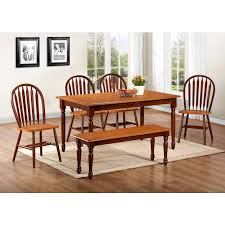 table 4 chairs and bench. chestnut \u0026 cinnamon farmhouse 6 piece dinette (table, 4 chairs bench) - bernie phyl\u0027s furniture by amesbury chair table and bench ,